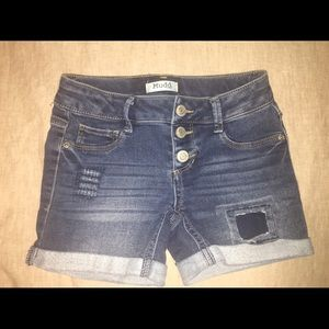 Miss girls shorts.  Size 7. Distressed look